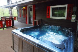 Chalet with spa