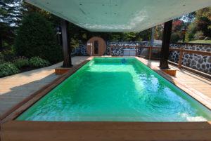 Chalet avec piscine exterieure 4 saisons dans les Laurentides